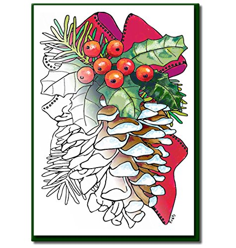 Cards Christmas Stationery (Christmas Cards for Coloring by Adults and Children |12 Cards to Color | Envelopes Included)