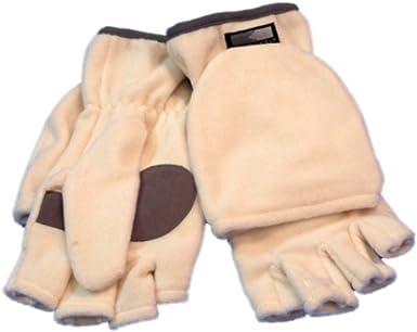 Womens Fleece Convertible Mittens//Fingerless Gloves