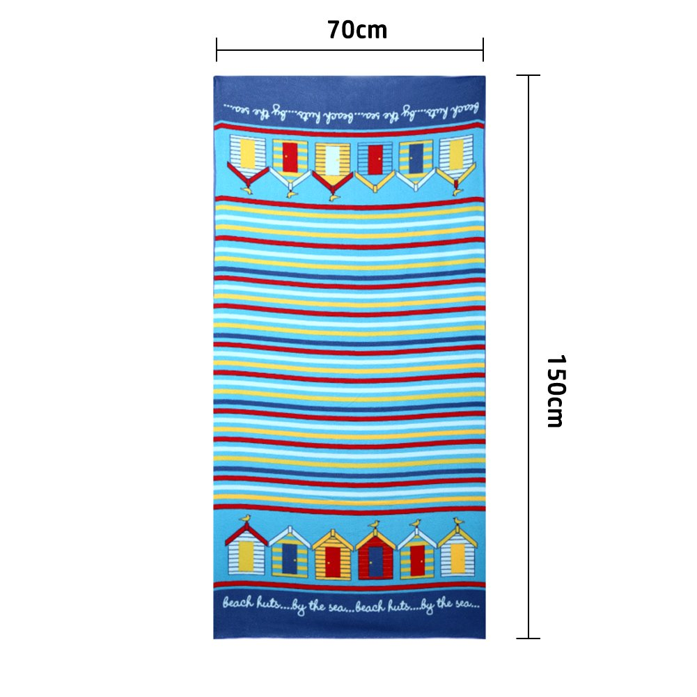Microfiber Beach Bath Travel Towel-Soo Angelers(2018 Lightweight and Quick Dry for Travel Pool Yoga Sports Large Size Gift for Kids&Adult(Blue) by Soo Angeles (Image #5)