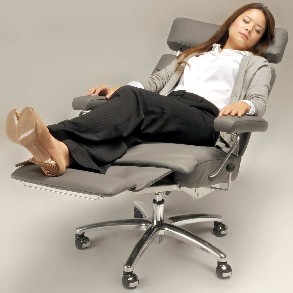 office recliners. Amazon.com: Adele Executive Recliner Office Chair Grey Leather By Lafer Chairs: Kitchen \u0026 Dining Recliners Amazon.com
