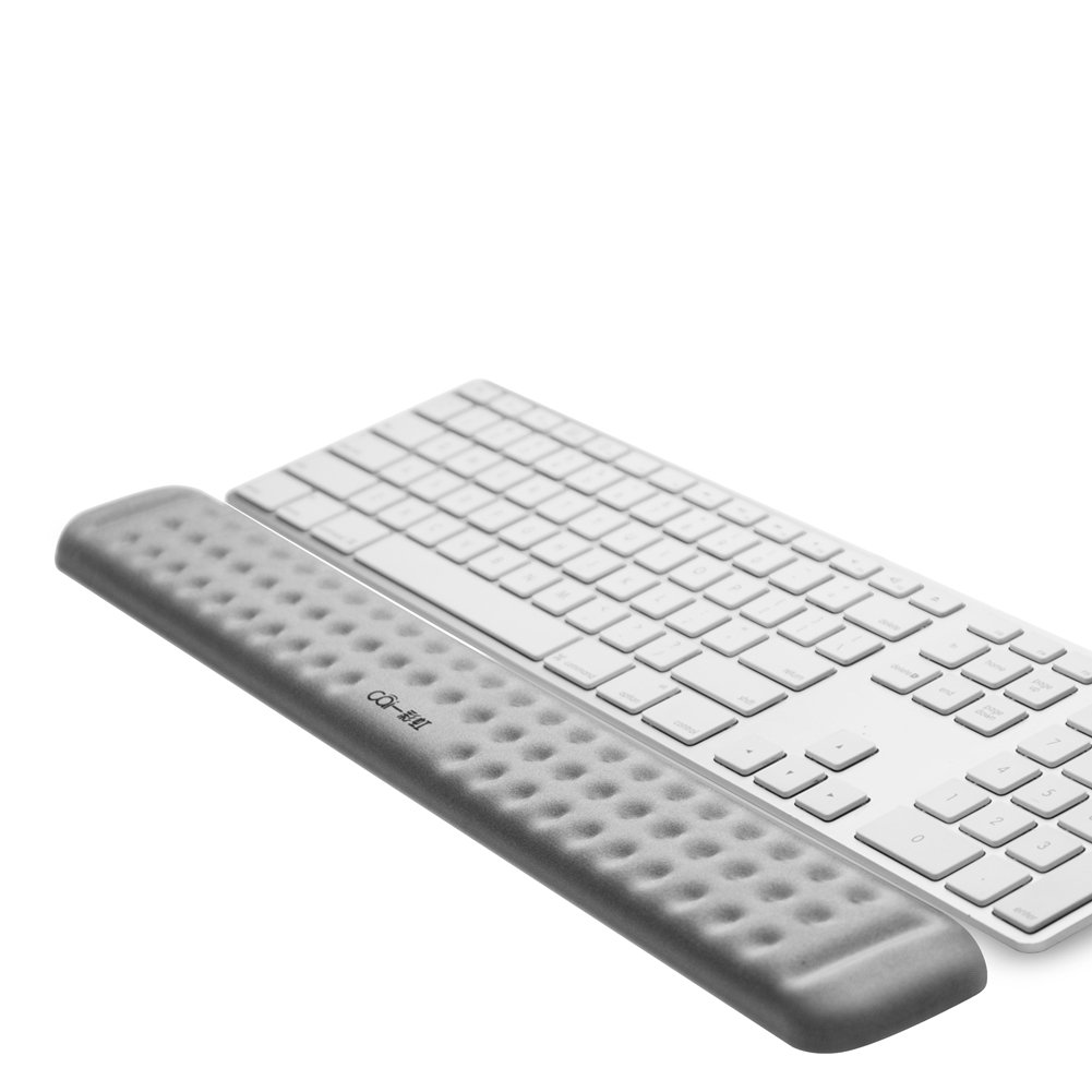 Keyboard Wrist Rest Memory Foam Hand Palm Rest Support for Office, Computer, Laptop, Mac Typing and Wrist Pain Relief and Repair (17.3 inch, Gray)