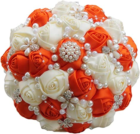 Exclusive Brooch Bridal Wedding Bouquet Artificial Flower Diamond