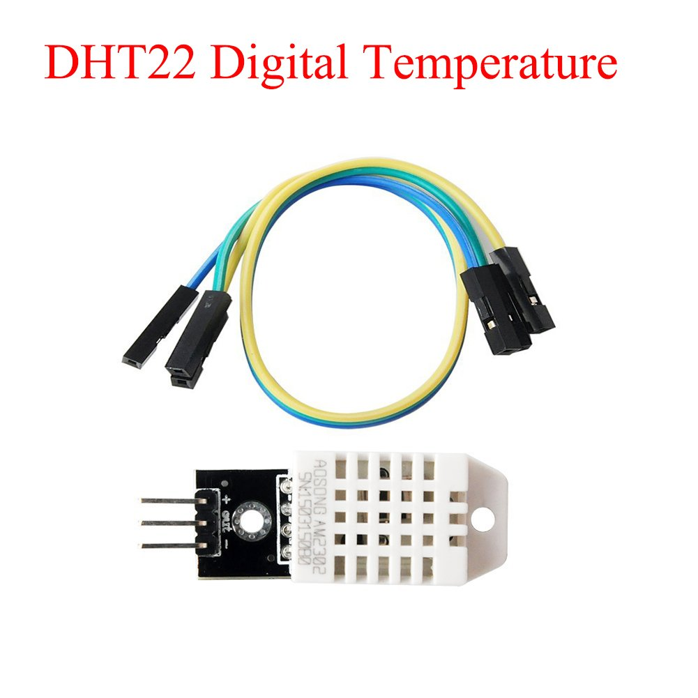SuperiParts 10PCS/LOT DHT22 Digital Temperature and Humidity Sensor AM2302 Module+PCB with Cable for arduino