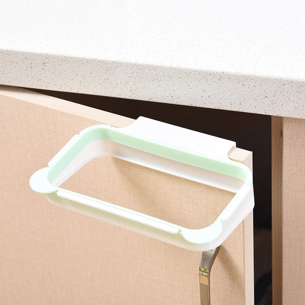 Kitchen door back type portable cabinet door back dishcloth hanger garbage rack