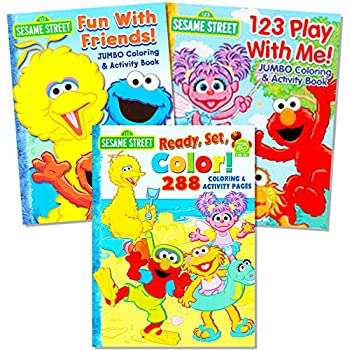 sesame street coloring book super set 3 jumbo books 480 pages total featuring elmo - Sesame Street Coloring Books