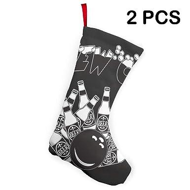Amazon.com: Calcetines de Navidad para Papá Noel, decoración ...