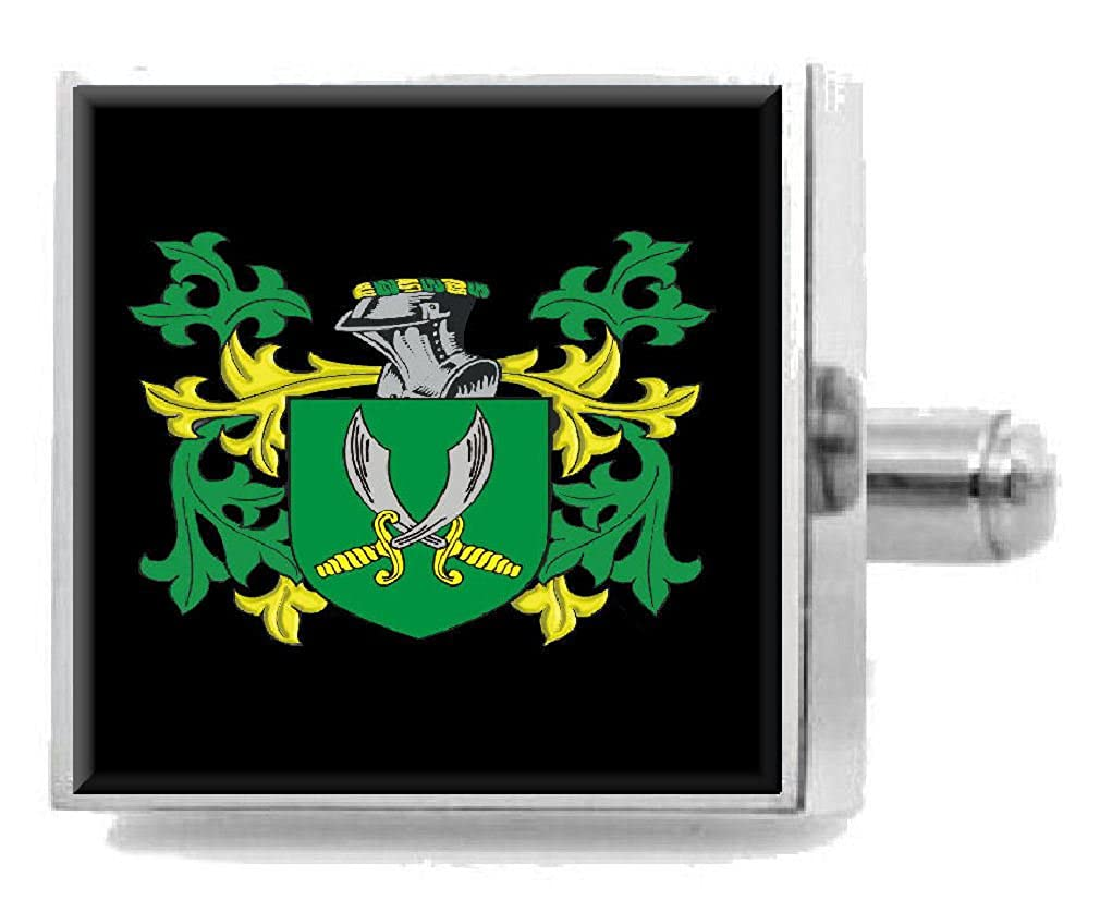 Select Gifts Swift Ireland Heraldry Crest Sterling Silver Cufflinks Engraved Message Box