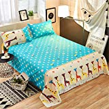 Children's mat Summer Sheets Summer 0.9m Single ice Silk Single Student 1.5m Simple Double Men and Women Europe and America c Giraffe 220230cm