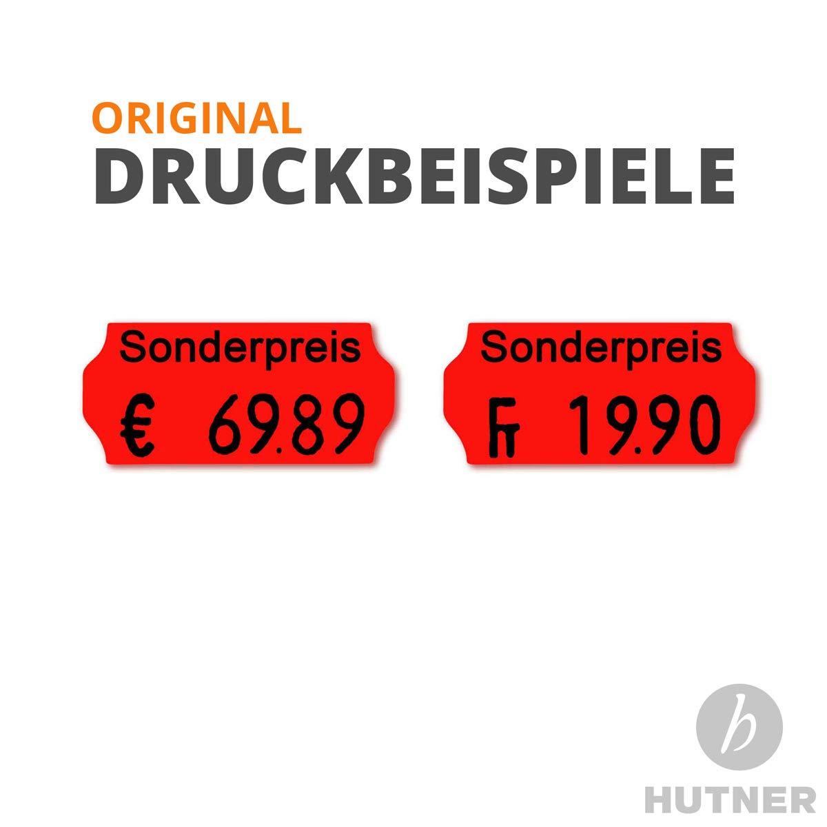 Preisauszeichner Set: Preispistole Jolly C6 f/ür 26x12 inkl 1 Farbrolle etikettieren leucht-gelb permanent HUTNER 15.000 HUTNER Preisetiketten