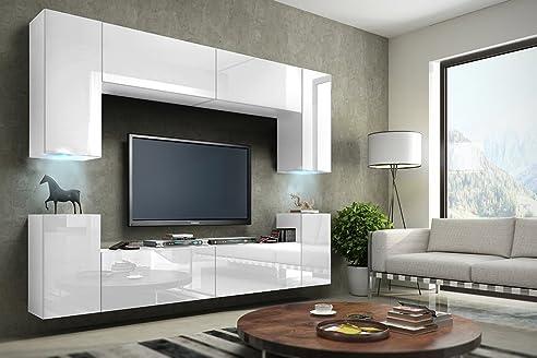 FUTURE 1 Moderne Wohnwand, Exklusive Mediamöbel, TV-Schrank ...