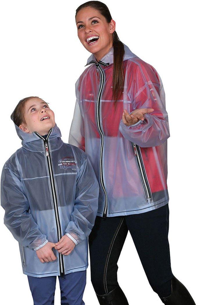 Amesbichler Regenjacke Shelly transparent für Damen und Kinder   Jacke   Reitjacke Reitsport Amesbichler