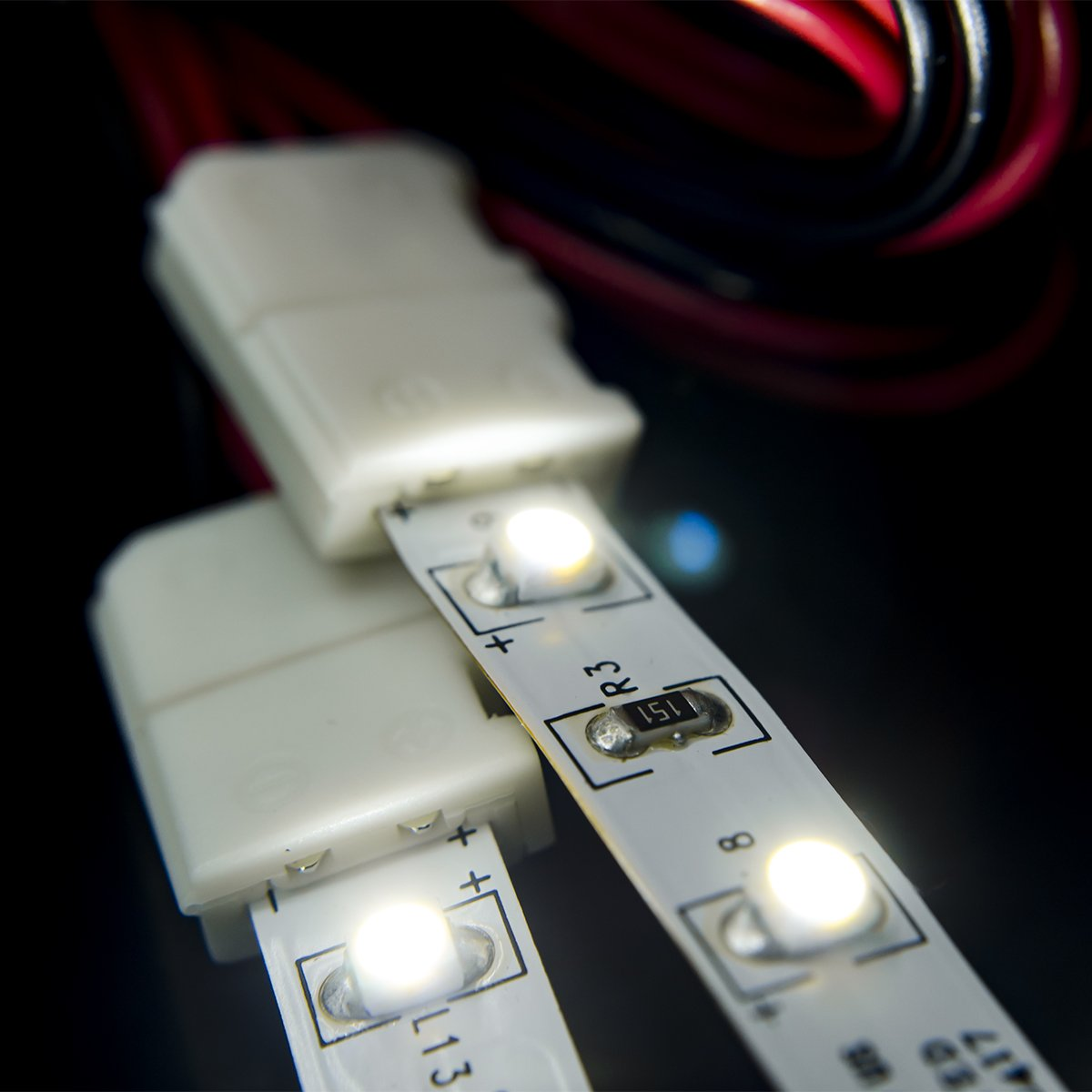 Six Foot Strip to Strip HitLights LED Light Strip Connector 8mm Single Color 3528