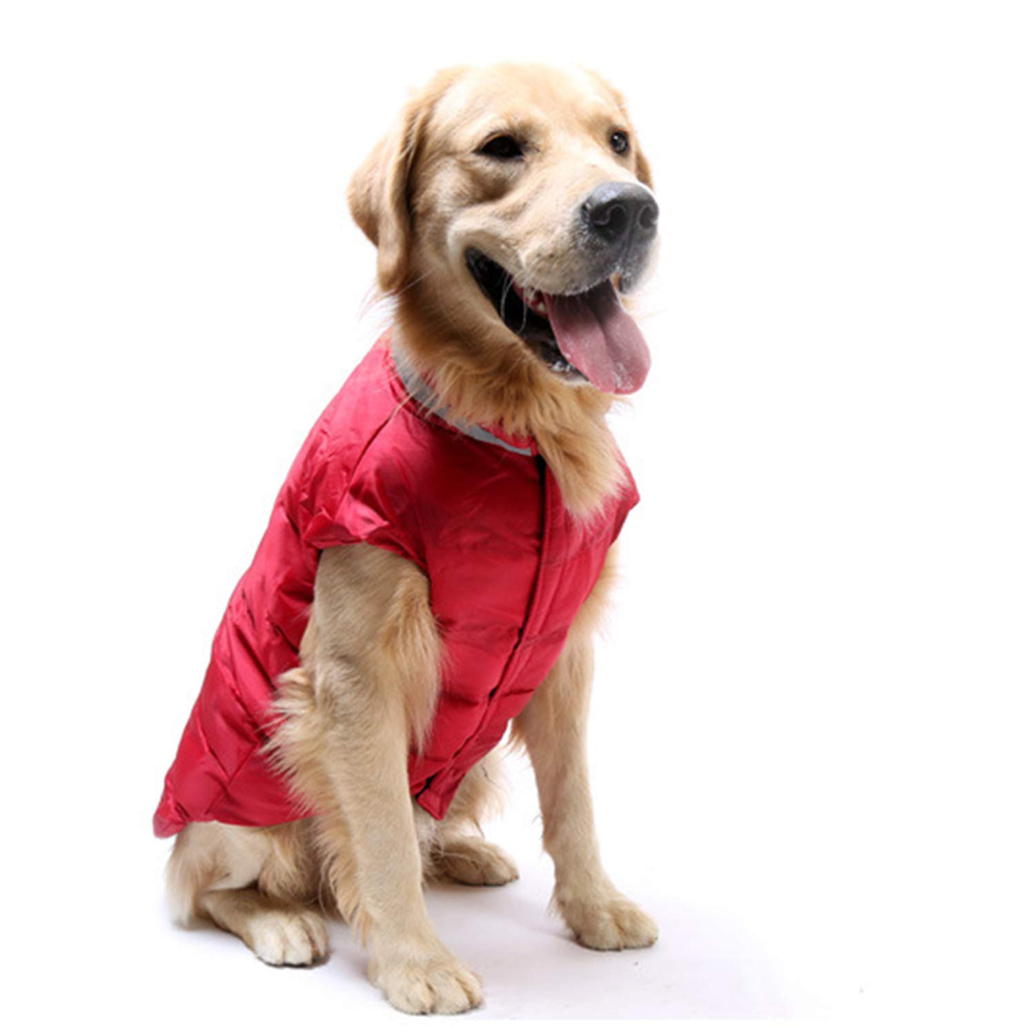 Red XL Red XL Pet Clothes Dog Clothes golden Retriever Labrador Large and Medium Dogs Waterproof Down Vest
