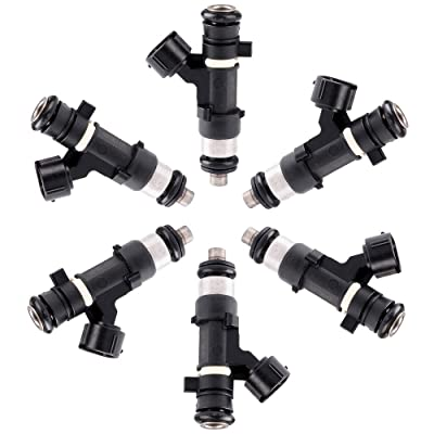 TUPARTS Fuel Injectors Set 6pcs 4Holes fit for 2004 2005 2006 Nissan Altima,2004 2005 2006 2007 2008 Nissan Maxima,2003 2004 Nissan Murano,2004 2005 2006 2007 2008 2009 Nissan Quest 0280158005: Automotive