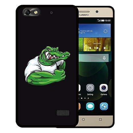 WoowCase Funda Huawei G Play Mini - Huawei Honor 4C, [Huawei G Play Mini - Huawei Honor 4C ] Funda Silicona Gel Flexible Mascota Cocodrilo, Carcasa ...