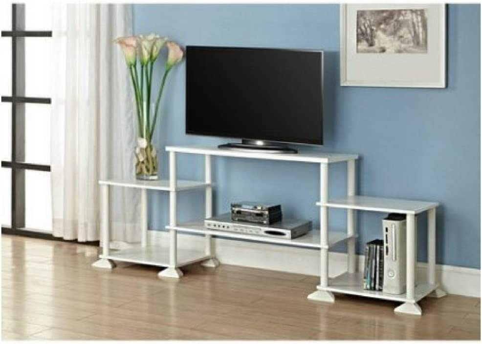 Mainstay Multiple Shelves No Tools 3-Cube Storage Entertainment Center for TVs up to 40 40, White