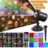 Ocean Wave Christmas Projector , 2-in-1 Remote Control Moving Patterns with Ocean Wave LED Landscape...