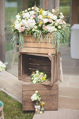 09398f5f472 12 x Rustic Wedding Decor Shabby Chic Vintage Wooden Apple Crates