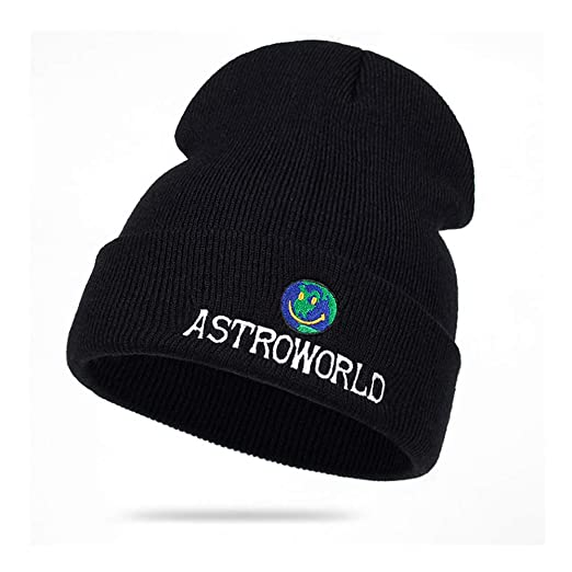 91e657afd48 Travis Scott Astroworld Unisex Knitted Hat Solid Color Sleeve Cap Beanie Hat  Winter Windproof Warm Soft Cable Knitted Hat at Amazon Women s Clothing  store