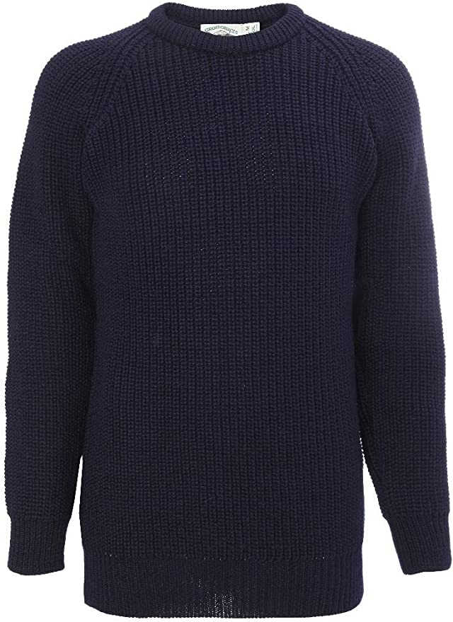 Men's Vintage Workwear Inspired Clothing Fishermans Crew Neck Sweater 100% Wool £45.00 AT vintagedancer.com