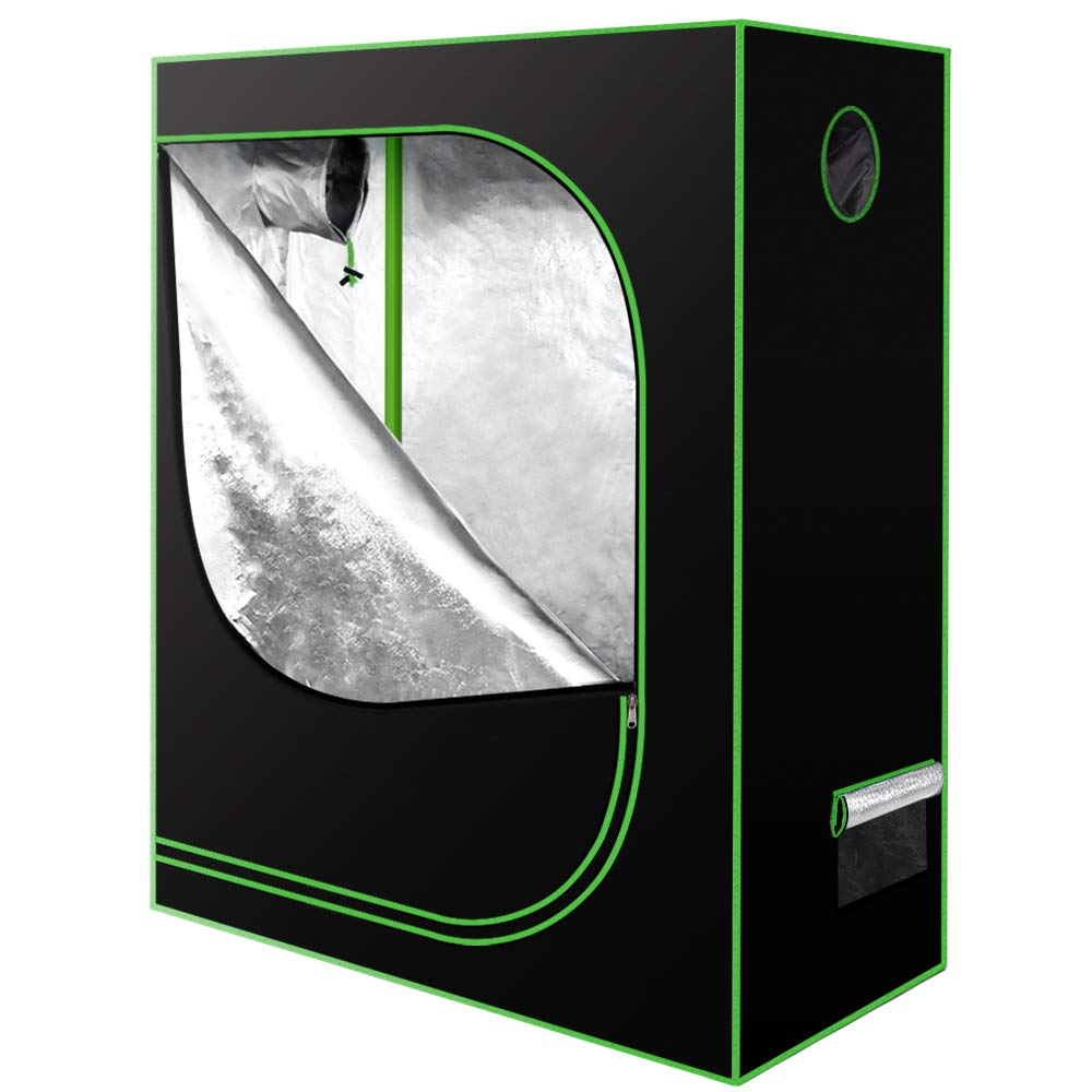 Amagabeli 48''x24''x60'' Grow Tent Mylar Hydroponic for Indoor Plant Growing 4x2 with Observation Window Removable Floor Tray Reflective Adjustable Rope Hangers Tool Bag Grow Box 4 by 2 Indoor Grow Kit