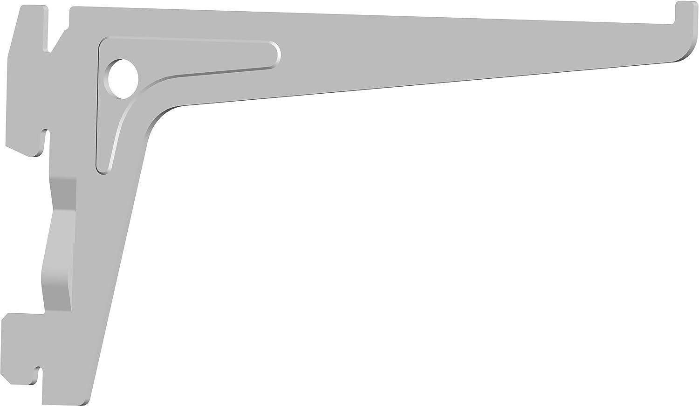 3 Farben//L = 20 cm//schwarz//f/ür Regalsystem//Wandschiene, 7 Abmessungen Element System 18133-00004 PRO-Tr/äger Regaltr/äger 1-reihig 2 St/ück