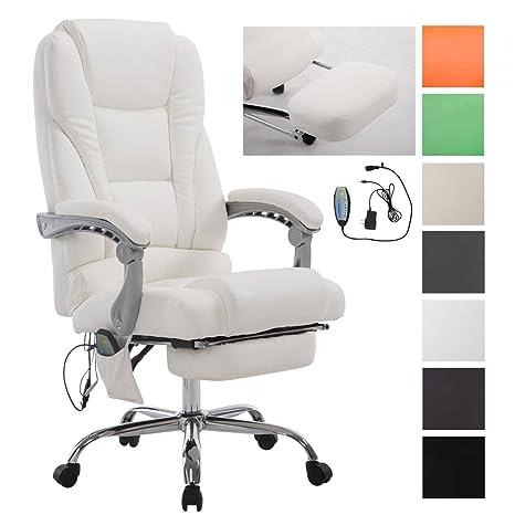 Poltrona Ufficio Massaggio.Clp Sedia Ufficio Massaggiante Pacific V2 Poltrona Relax 5 Programmi Di Massaggio Sedia Ergonomica In Similpelle Con Poggiapiedi Estraibile E
