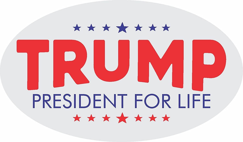 WARNING TRUMP IS COMING POLITICAL BUMPER STICKER DONALD TRUMP 2016