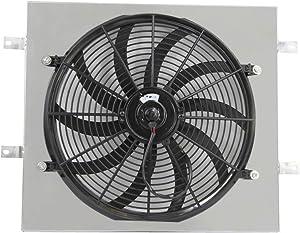 """ALLOYWORKS Fan Shroud + 16"""" Electric Cooling Fan For 1987-2006 Jeep Wrangler YJ TJ 2.4L 4.2L"""