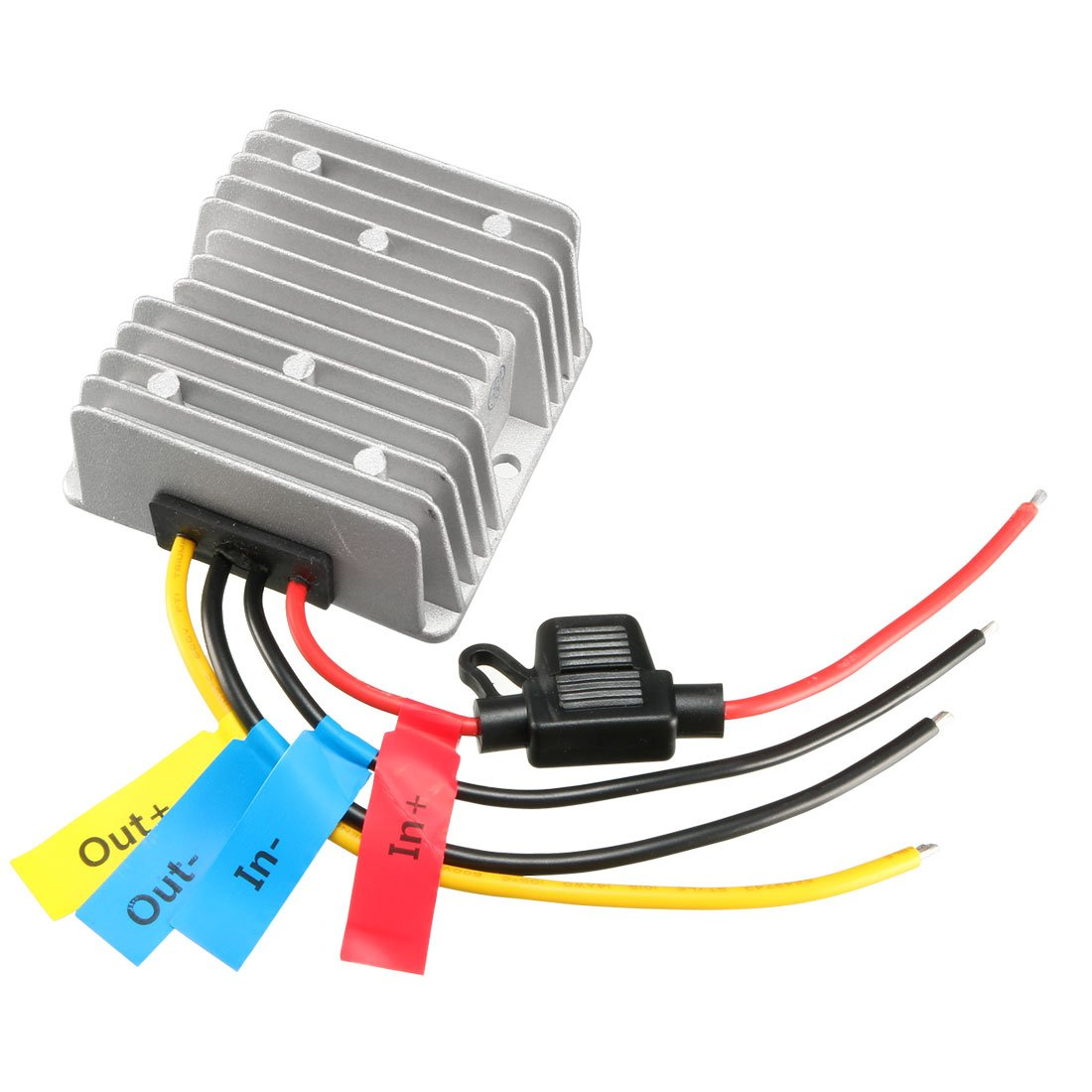 uxcell DC 48V Step-Down to DC 12V 20A 240W Waterproof Car Power Supply Module Voltage Converter Regulator Transformer
