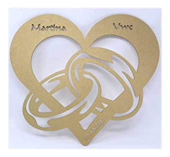 Schlummerlicht24 Goldhochzeit Goldene Silberne Hochzeit Lampe mit Namen und  Hochzeitsdatum Ehepaar