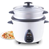 Geepas Electric Rice Cooker, White, GRC35011