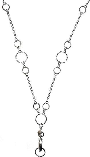 Grey Crystal Lanyard ID Badge Fashion Lanyard Silver ID Badge Holder Necklace Necklace Lanyard Crystal Gray Silver Beaded Lanyard