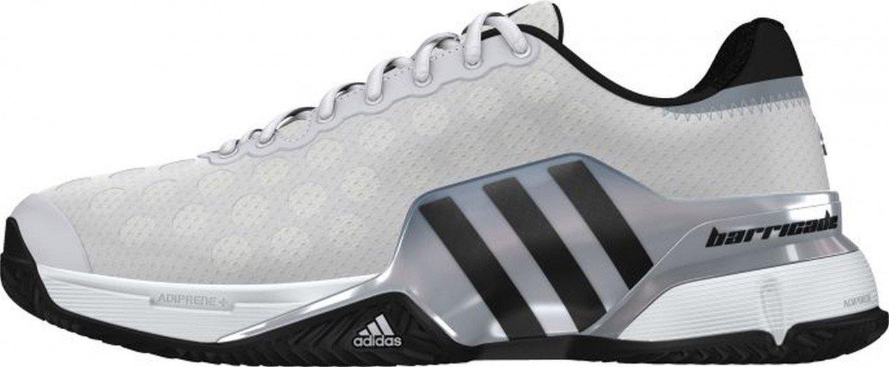 adidas Barricade 2015 Clay Calzado de tenis Hombre - blanco / negro, 11.0 UK - 46.0 EU: Amazon.es: Deportes y aire libre