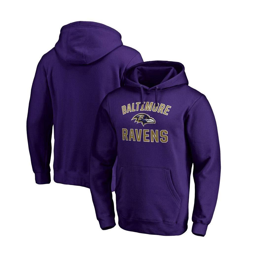 Color : Black A, Size : S LELEHoodies Felpa con Cappuccio for Baltimore Ravens Autunno Football Americano Autunno Sport Pullover Casual
