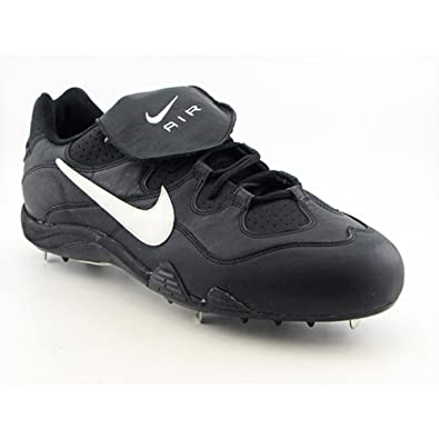 182c251326029 Nike Mens Air Clipper Black Metal Baseball Cleats 16 D Medium Professional