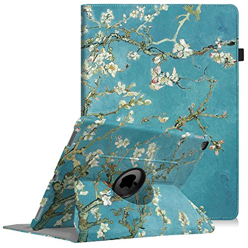 Fintie iPad Pro 12.9 Case - 360 Degree Rotating Stand Case with Smart Protective Cover Auto Sleep/Wake for Apple Pro 12.9 (1st Gen 2015) / iPad Pro 12.9 (2nd Gen 2017), Blossom