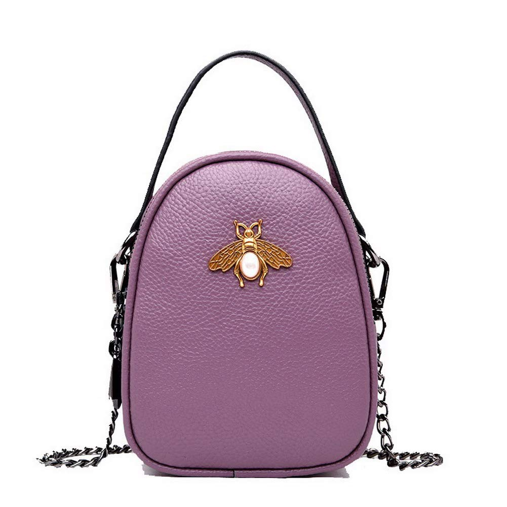 Purple WeiPoot Women's Fashion Tote Bags Pu Ornamented Crossbody Bags,EGHBG182544