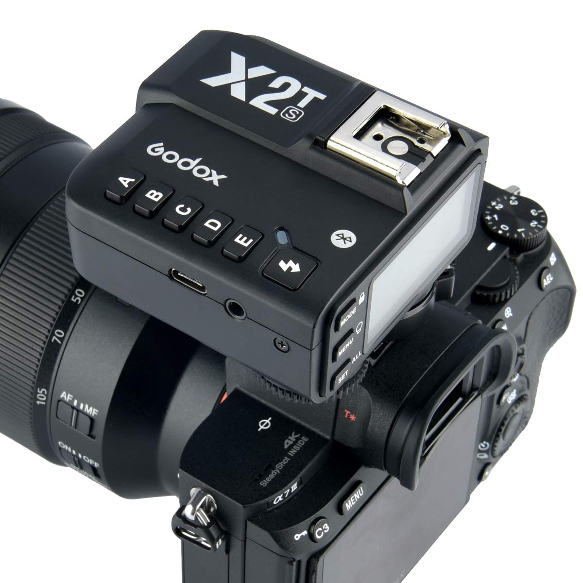 Godox X2T-S TTL Wireless Flash Trigger 1/8000s HSS TTL, Phone APP Adjustment, Compatible Sony (X2T-S) by Godox (Image #7)
