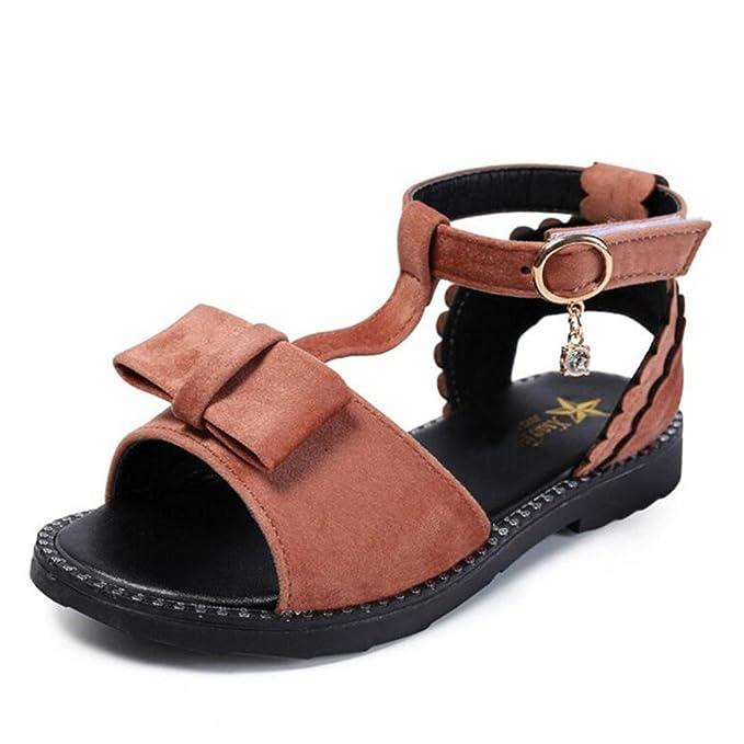 18f6b5e01 Sandalias de verano con sandalias abiertas para niñas Grandes niños con zapatos  romanos huecos planos Princesa estudiantes Sandalias de moda para niños  ...