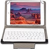 Vbestlife Funda Protectora de PU para Tableta de 7 Pulgadas + Teclado Bluetooth, para iPad Mini 2 3 4 5 / para Huawei S7 / pa