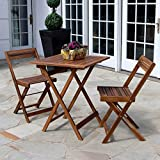 Décor Therapy MP1625 Outdoor Dining Set, 23.6w 23.6d 29h, Brown