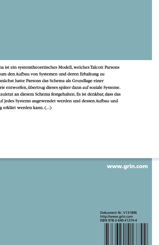Das AGIL-Schema: Amazon.co.uk: Anonym: 9783640413744: Books