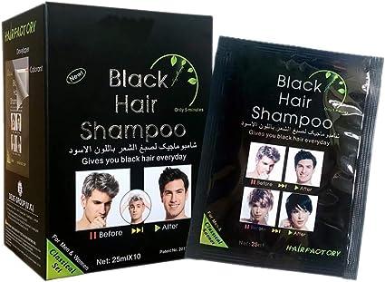 Tinte instantáneo para el pelo Tinte Pelo Negro Champú Cabello Negro Tinte temporal para el cabello Tinte instantáneo para el cabello Ingredientes ...