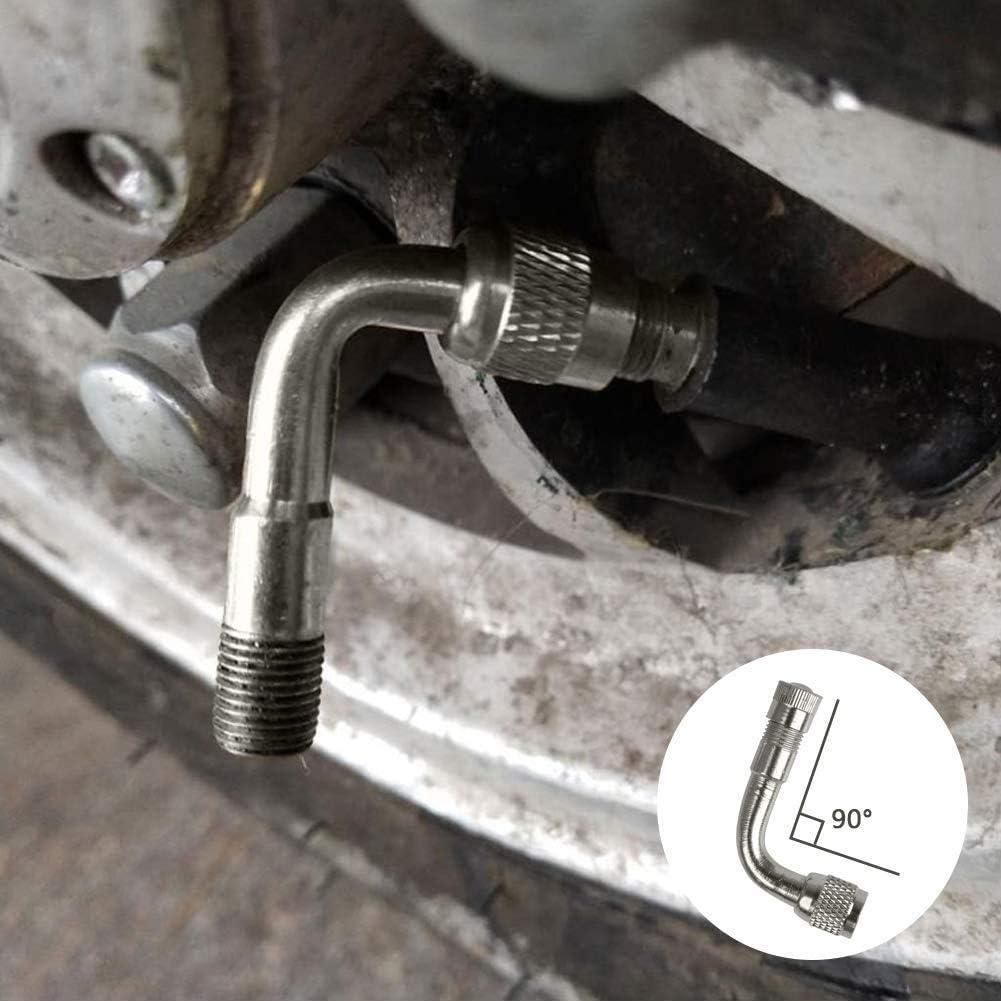 Valve Extender pneumatici Stem estensione tubo del gambo di valvola adattatore 45//90//135 gradi angolo Wheel Adapter per Auto Moto Bici camion 12pcs