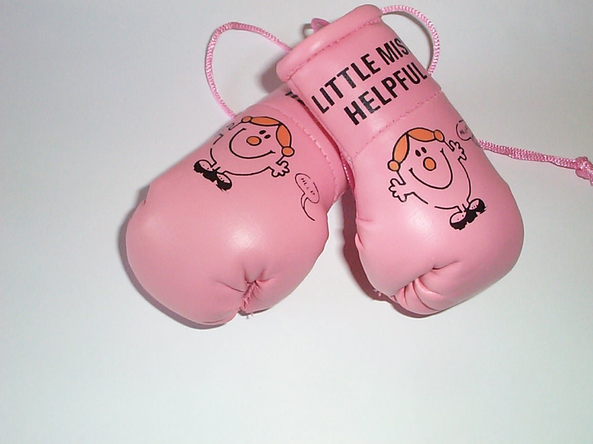 Mr Men Little Miss Helpful Mini Boxing Gloves GB Falconry