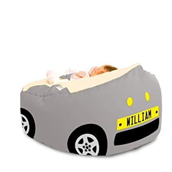 Brilliant Gaga Luxury Cuddlesoft Baby Bean Bag Racing Car Grey Gamerscity Chair Design For Home Gamerscityorg