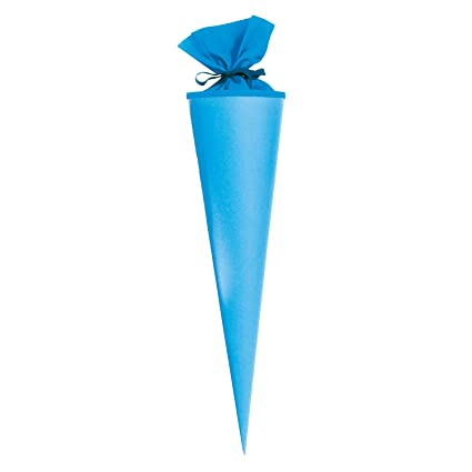 Bastel Schultüte blau//weiß 70 cm Goldbuch