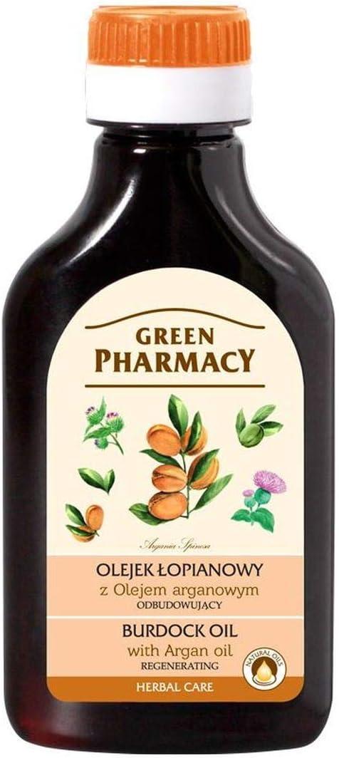 Aceite de Raiz Bardana y Argán . Regenerador capilar 100 ml. Green Pharmacy