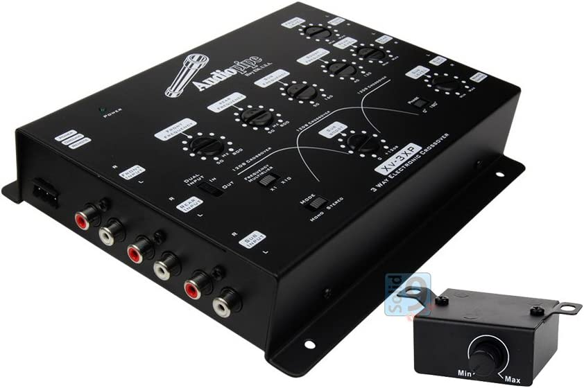 NEW AUDIOPIPE XV-3XP 3-WAY Electronic Crossover With Line Driver + Bass Knob